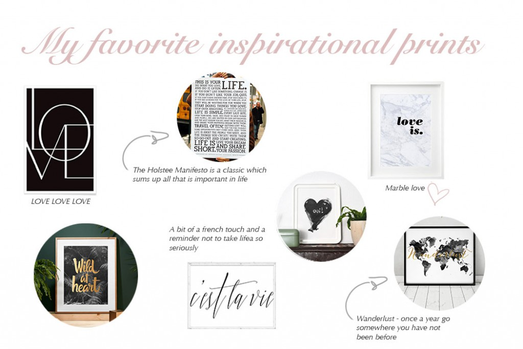 My favorite inspirational prints