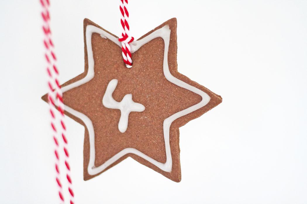 Last Minute Adventskalender basteln - backen Stern mit Nummer DIY Anleitung - DIY blog lindaloves