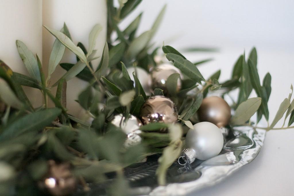 Adventskranz mit Olivenzweigen - DIY Weihnachten