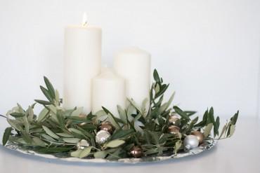 Adventskranz mit Olivenzweigen
