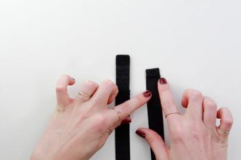 DIY schwarzes Spitzen Bralette selber machen Anleitung - Unterbrustband abmessen