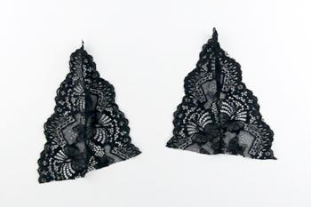 DIY schwarzes Spitzen Bralette selber machen Anleitung - Koerbchen zusammen naehen