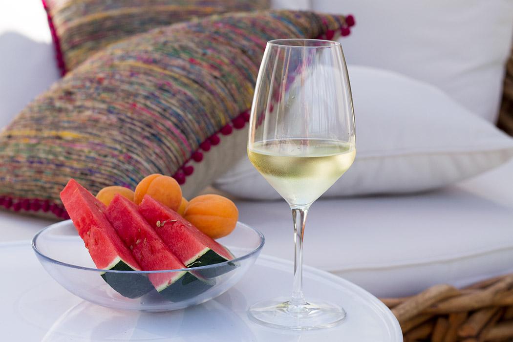 Spanische Outdoor Deco in pink Wein und Wassermelone - lindaloves.de