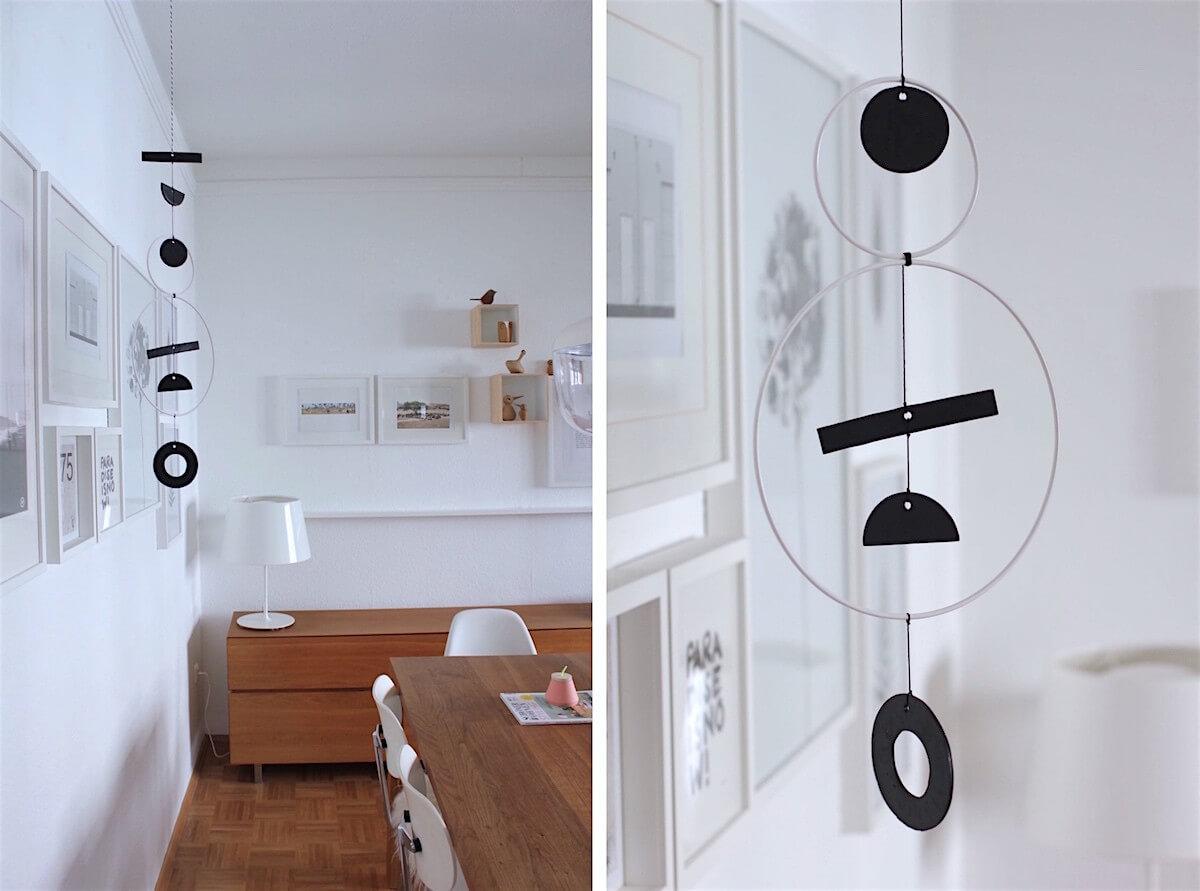Die schoensten Interior Deco DIY - lindalovesde - Hanging Art Mobile_labelfreimede