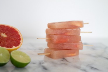 DIY Grapefruit Eis am Stil gestapelt - lindalovesde