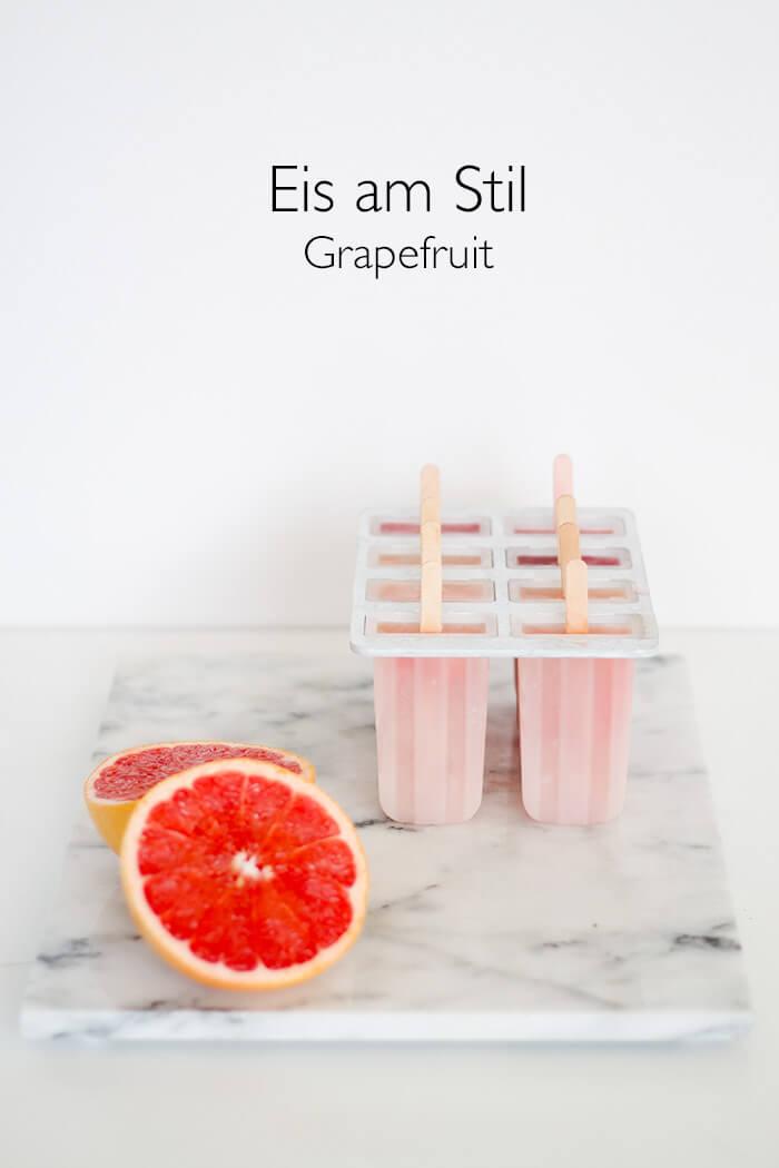Rezept für Grapefruit Eis am Stil Wassereis - lindalovesde