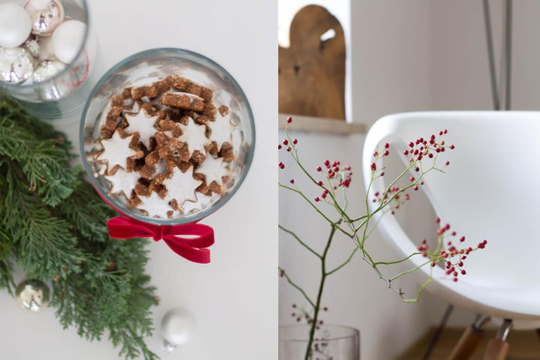 erste Weihnachtsdeko mit roten Beeren und Zimtsternen - lindlaloves.de DIY und Deco