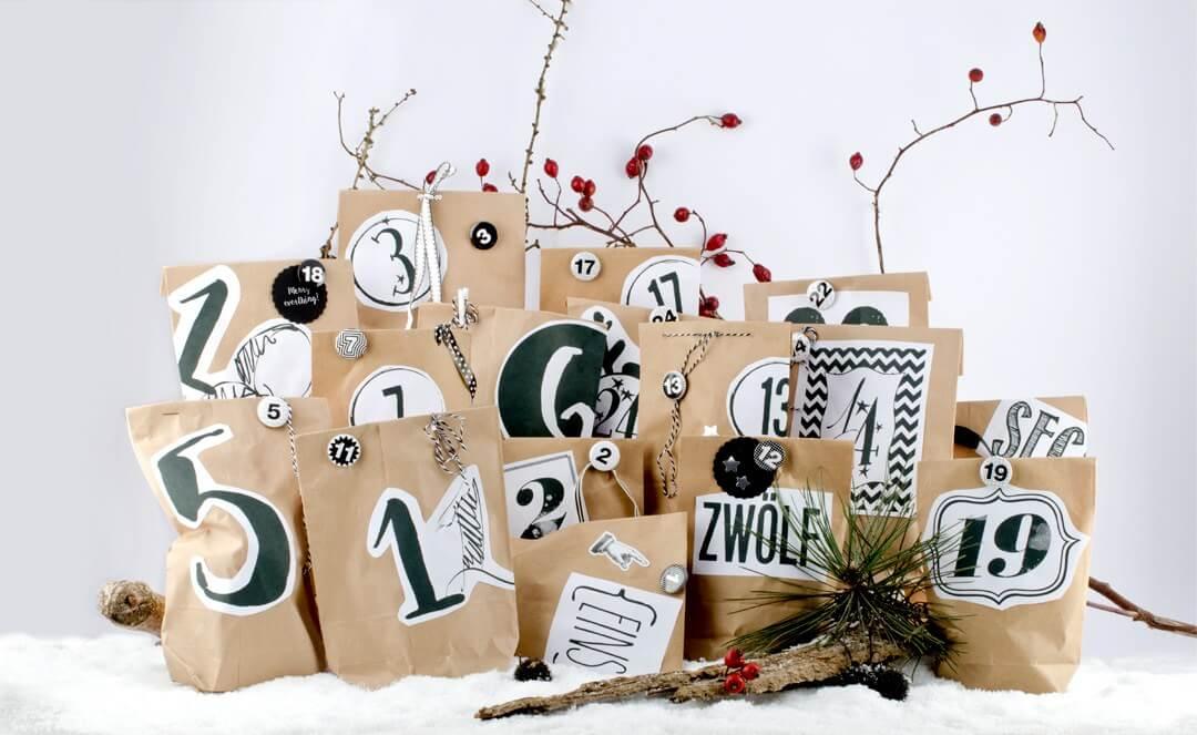 Ideen Fur Adventskalender Fullung Und Schnell Selbstgemacht Diy Blog