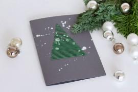 Weihnachtspostkarten besticken DIY Blog - Geschenkideen selber machen