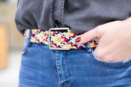 Gürtel aus Gummibändern flechten DIY Blog Fashion - individuelle Geschenke basteln