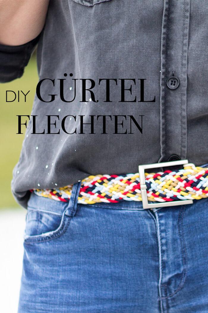 DIY bunten Gürtel flechten