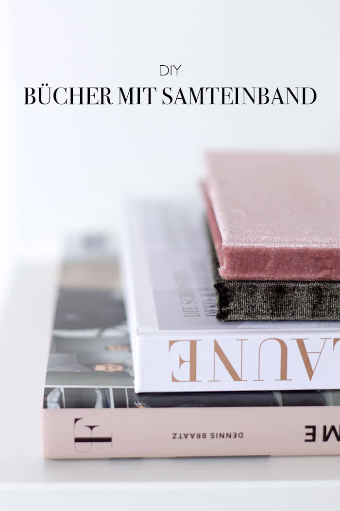 Buch mit Samteinband DIY Anleitung Upcycling
