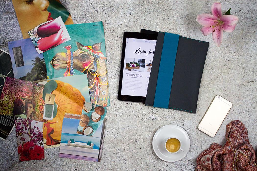 DIY Neopren Tablet Hülle selber machen - DIY Anleitung zum selber nähen do-it-yourself Blog lindaloves.de