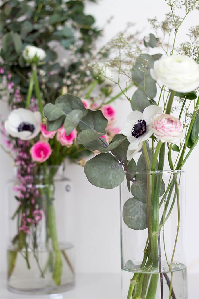 Blumen für Haarkranz - do-it-yourself Hochzeit - Boho Stil
