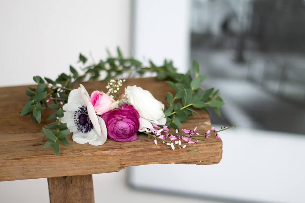 59d8747a0de335 Blumenkranz selber machen - DIY Ideen für die Hochzeit - Step by Step  Anleitung zum selbermachen