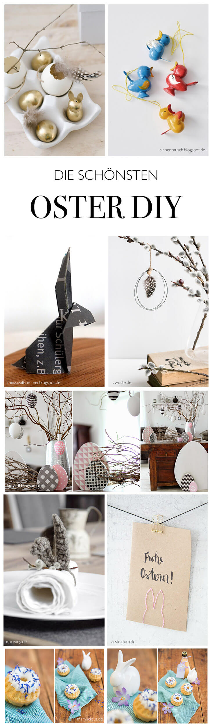 Die Schonsten Oster Deko Diy Linda Loves Diy Blog Diy