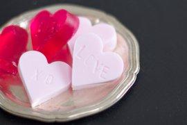 Seife selber machen in Herzform selber machen Muttertag - Kosmetik DIY