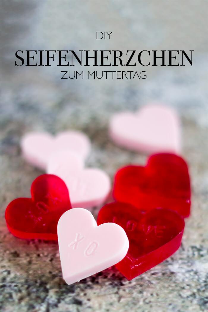 Seife in Herzform DIY Geschenkidee zum Muttertag Kosmetik selber machen - DIY Blog lindaloves