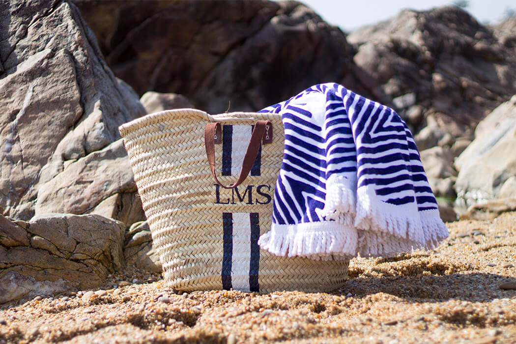 DIY Strandtasche bemalen - Beachbag selber machen Tasche selber machen DIY Blog lindaloves.de