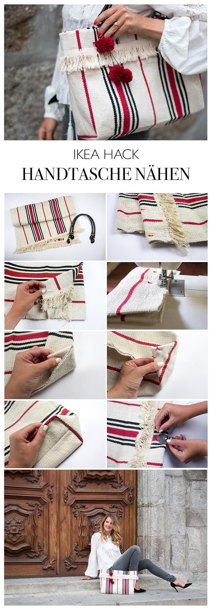 DIY Anleitung IKEA Tasche aus Teppich nähen - Handtasche selber machen - DIY Blog aus Berlin lindaloves.de