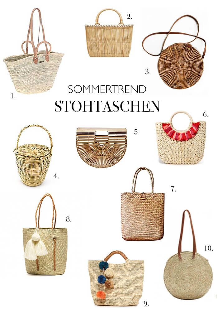 Die 10 schönsten Basttaschen - Strohtaschen - Strandtaschen - zum verzieren mit Quasten Troddeln Pompons DIY Blog lindaloves.de