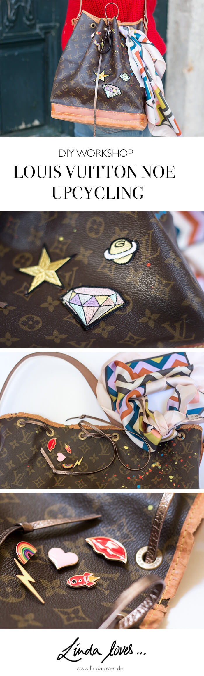 Louis Vuitton Noe Upcycling DIY Workshop mit Linda loves - DIY Blog aus Berlin