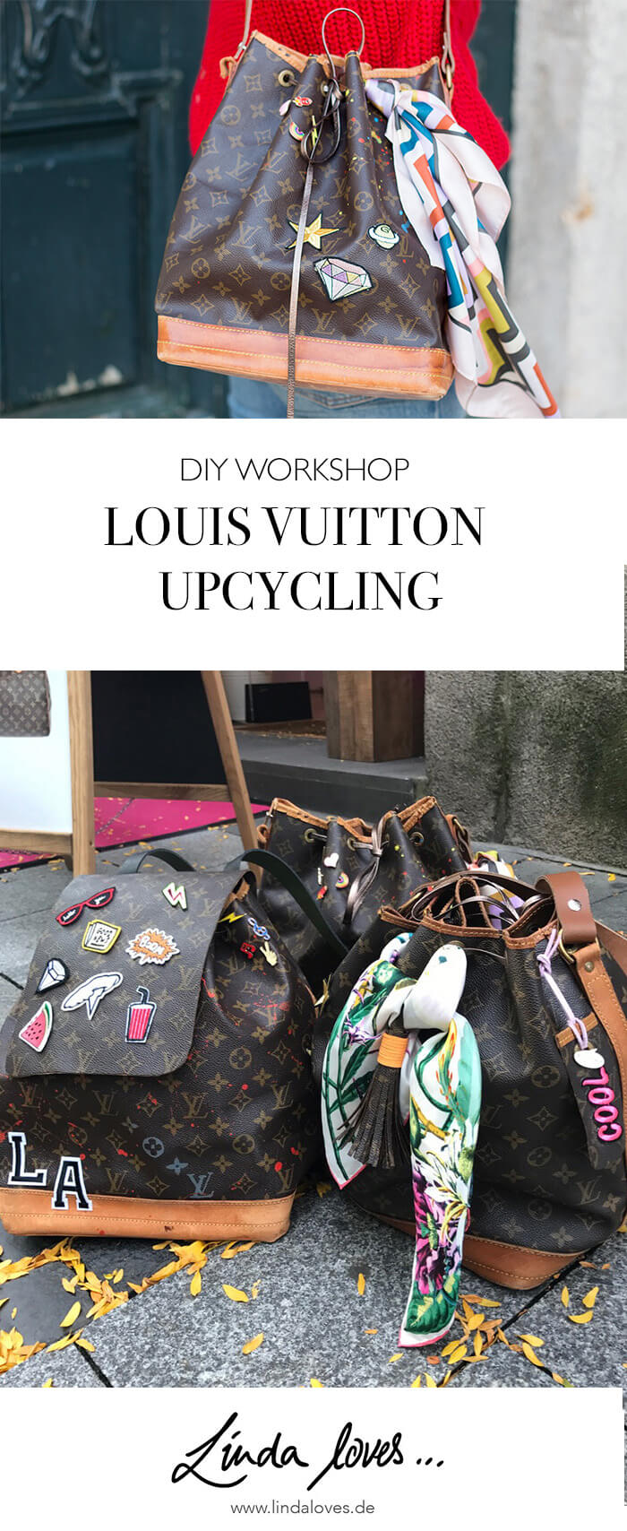 Louis Vuitton Upcycling Workshop - DIY mit Linda loves