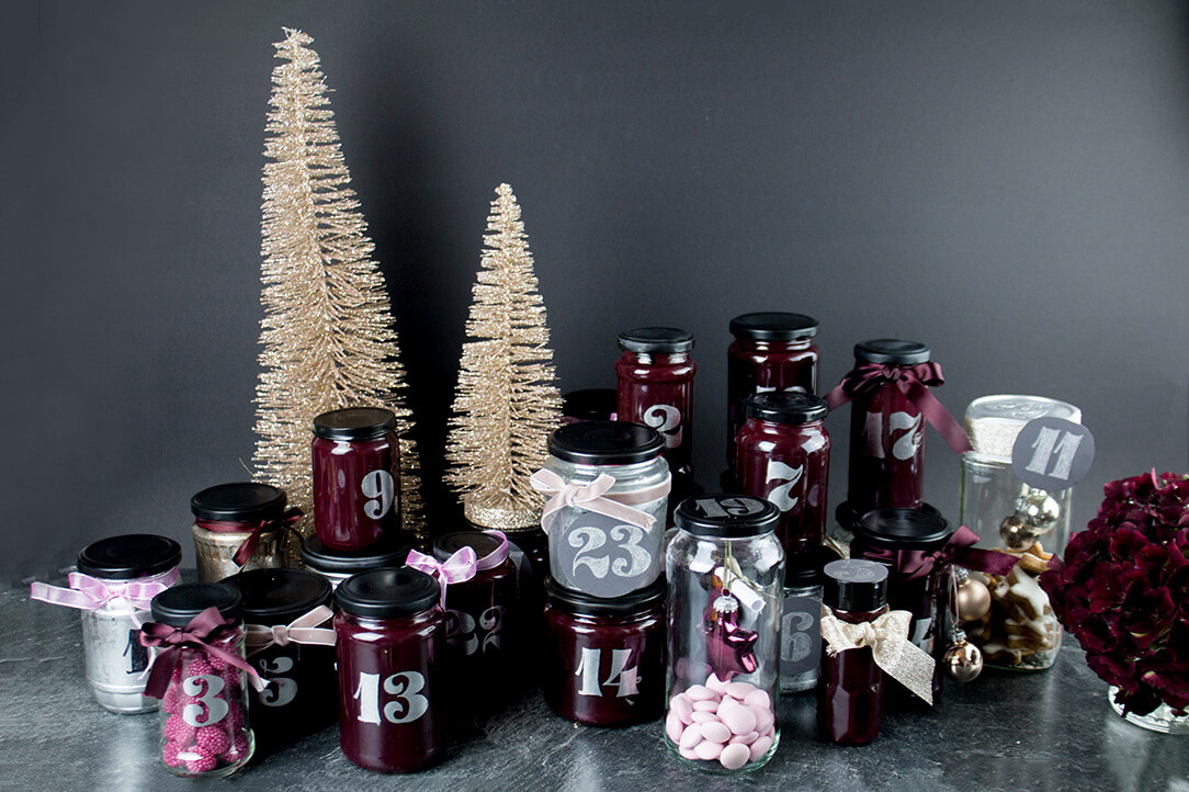Diy Adventskalender Upcycling Idee Aus Altglas