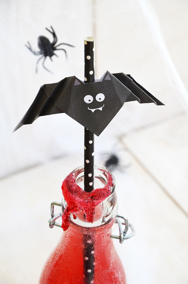 DIY Blog minidrops - Halloween Fledermaus Basteln Partyidee Dekoidee selber machen