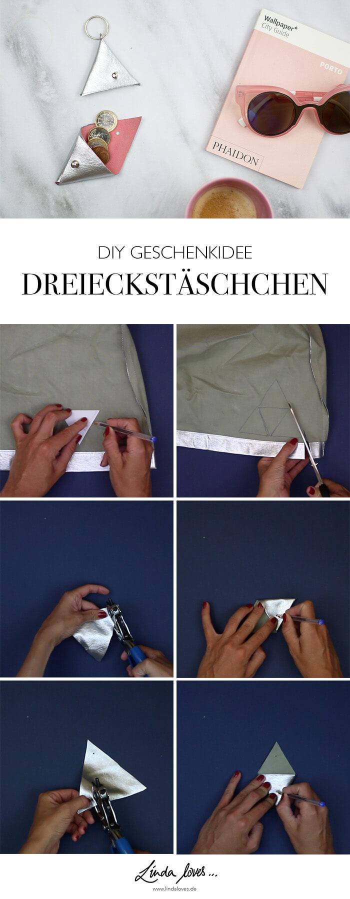 DIY Anleitung Schraubnieten Täschechen Geschenkidee zum selber machen - DIY Blog lindaloves.de