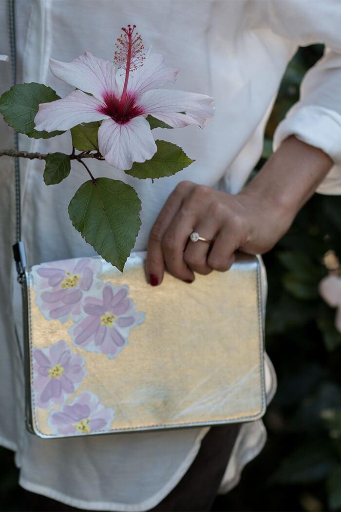 Handtasche bemalen DIY Blog Anleitun