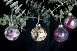 DIY Weihnachtskugeln selber machen Anleitung