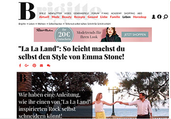 DIY Blog lindaloves.de bei Brigitte.de La La Land inspirierten Rock nähen DIY Anleitung