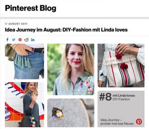 DIY Blog lindaloves.de als Teil der Pinterst Idea Journey