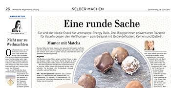 DIY Blog lindaloves.de Powerballs statt Weihnachtstrüffel in der Märkischen Allgemeinen