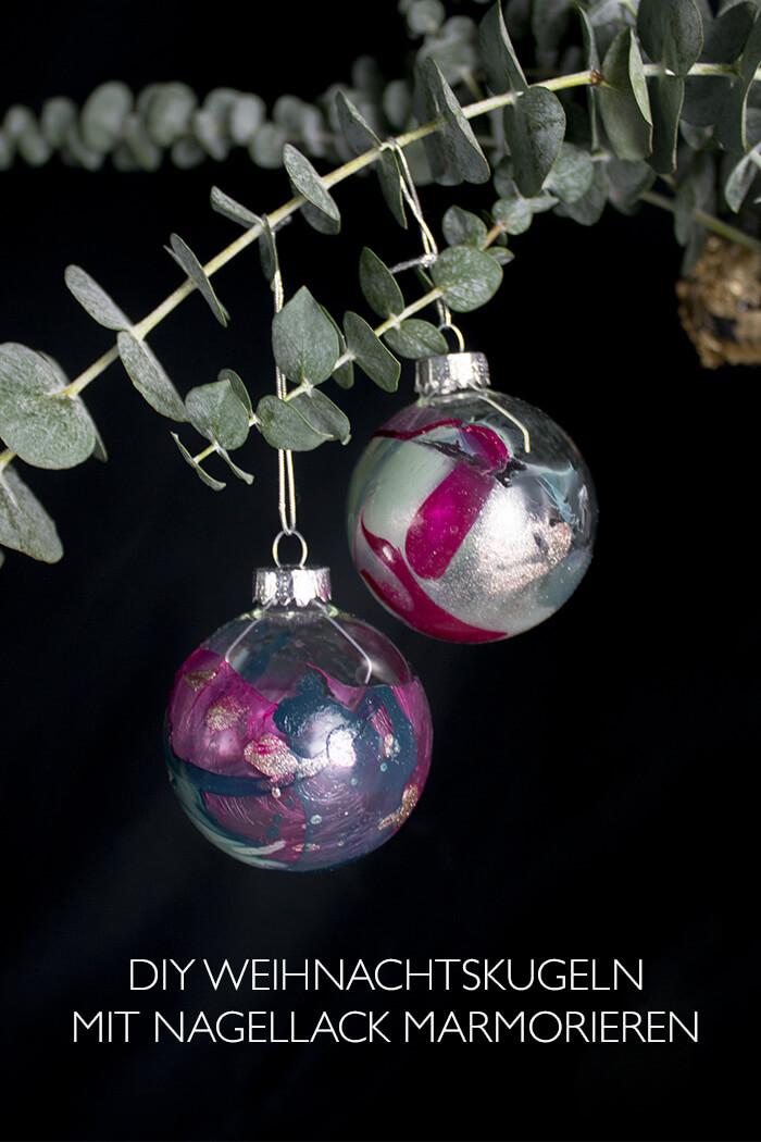 Diy Weihnachtsdeko Christbaumkugeln Verzieren