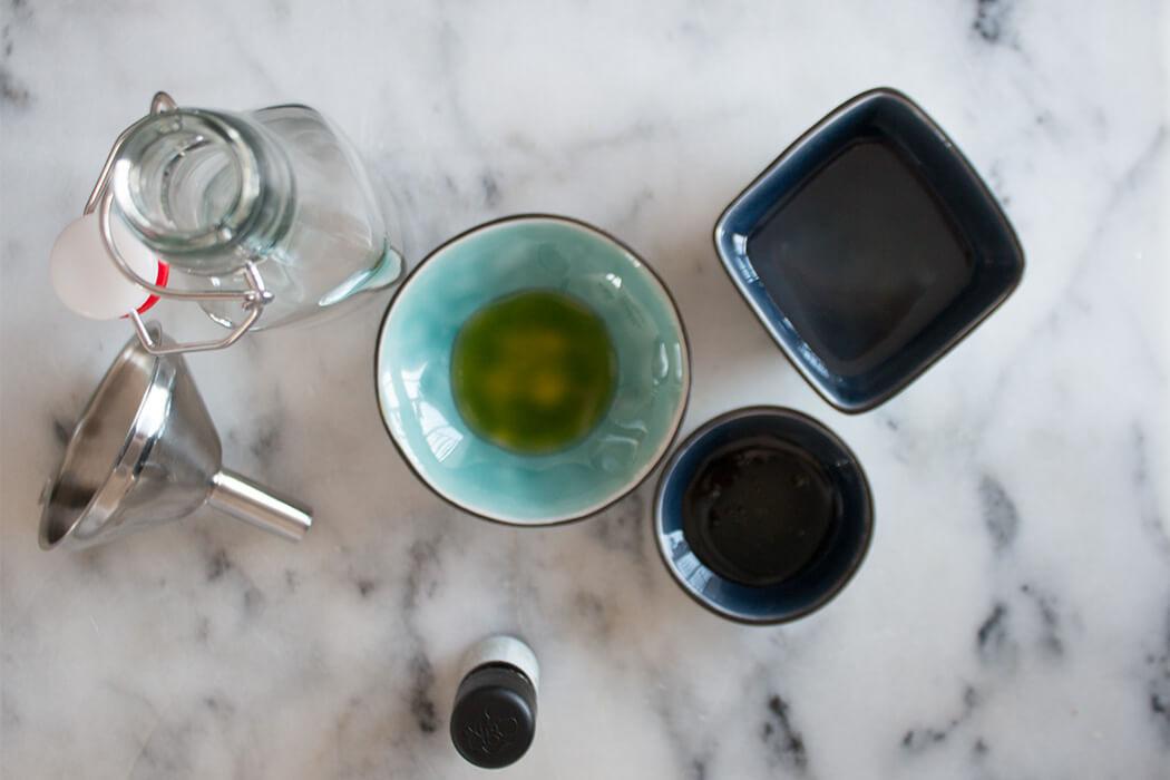 DIY Kosmetik selber machen - Anleitung Grüntee Körperpeeling Body Scrub Körperöl