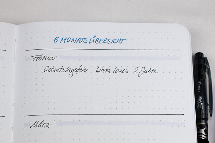 Bullet Journal für Anfänger DIY Blog do it yourself Kalender Organisation