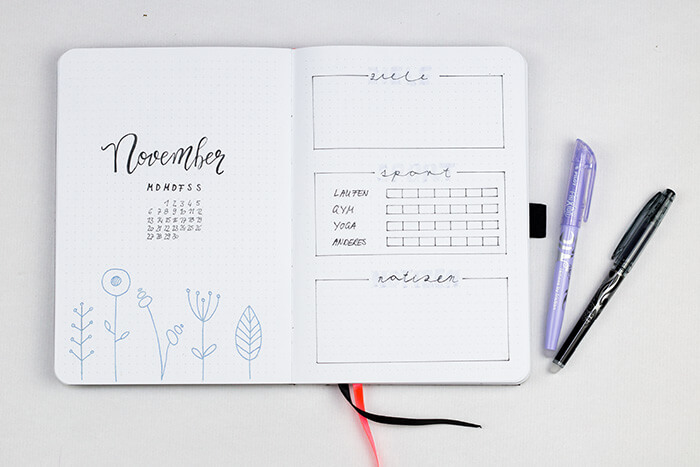 Bullet Journal für Anfänger DIY Blog do it yourself Kalender Organisation Monthly Spread Monatsübersicht