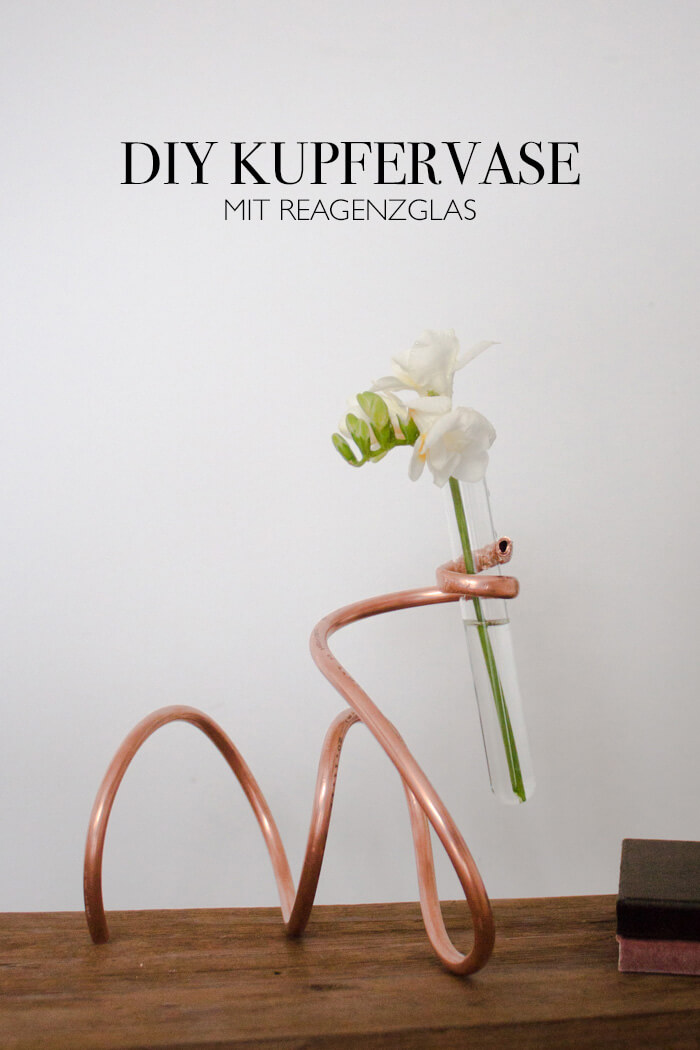 DIY Vase aus Kupferrohr - Deko DIY Blog