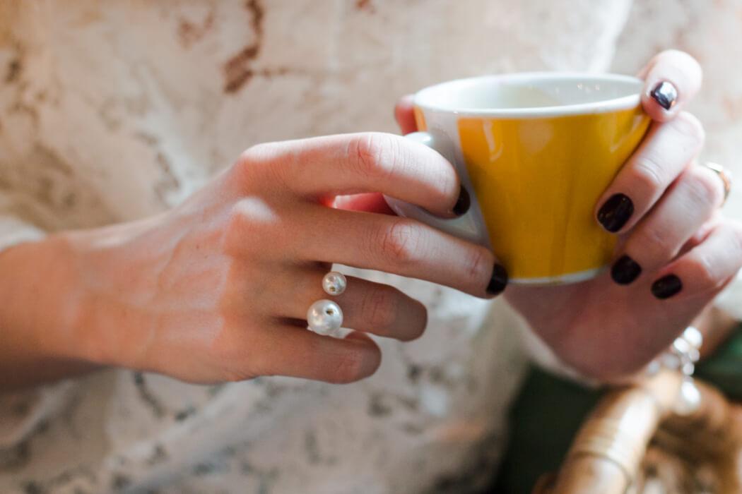 Accessoires selber machen DIY Perlen Fingerring selber machen - DIY Blog lindaloves.de München