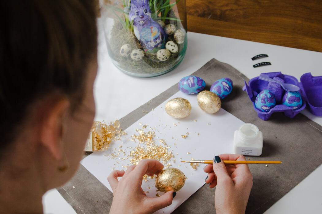 goldene Ostereier bemalen - DIY Ostern