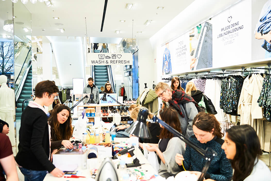 Sticken Upcycling Workshop H&M