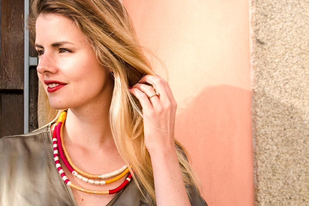 DIY Blog Fashion selber machen - Halskette umwickeln