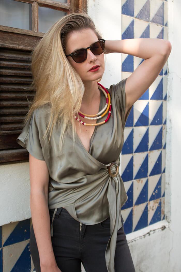 Statement Kette Wickeln Boho Sommer accessoire selber machen DIY Blog lindaloves
