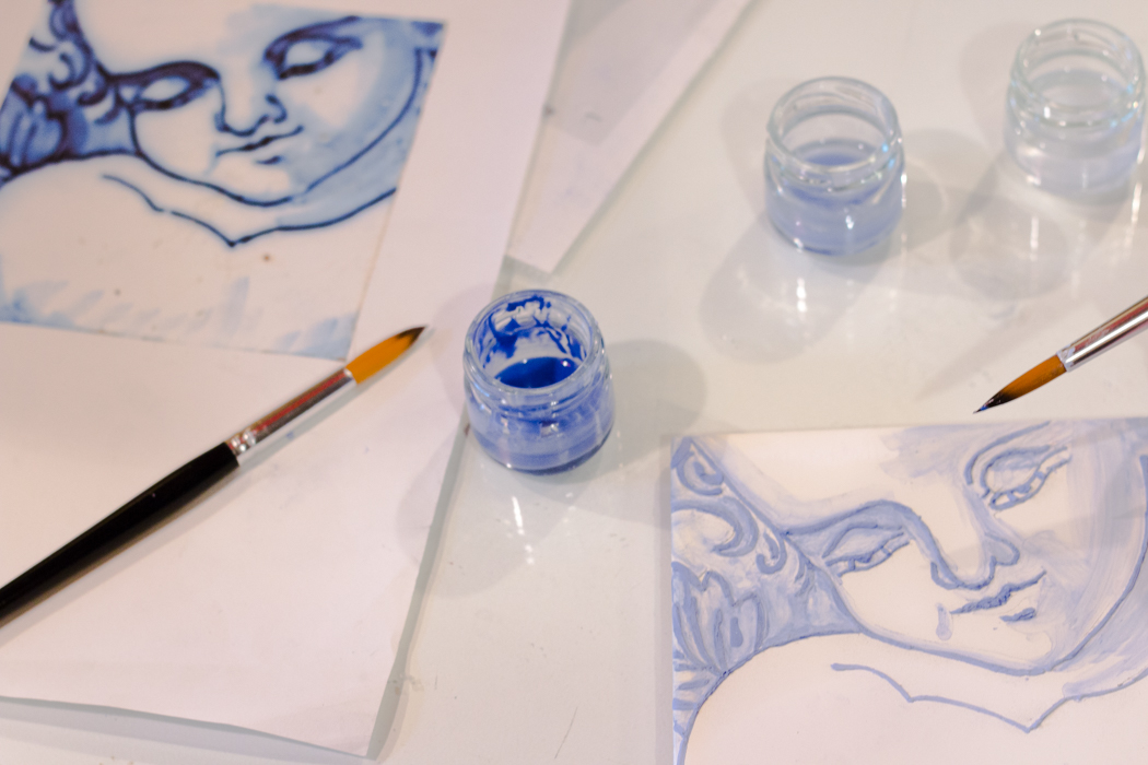 Wandfliesen bemalen Azulejos Workshop DIY Souvenir selber machen basteln