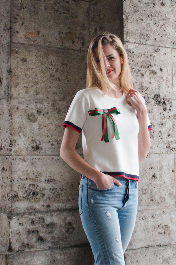Schleifenbrosche selber machen - Accessoire DIY aus Geschenkbändern - DIY Blog