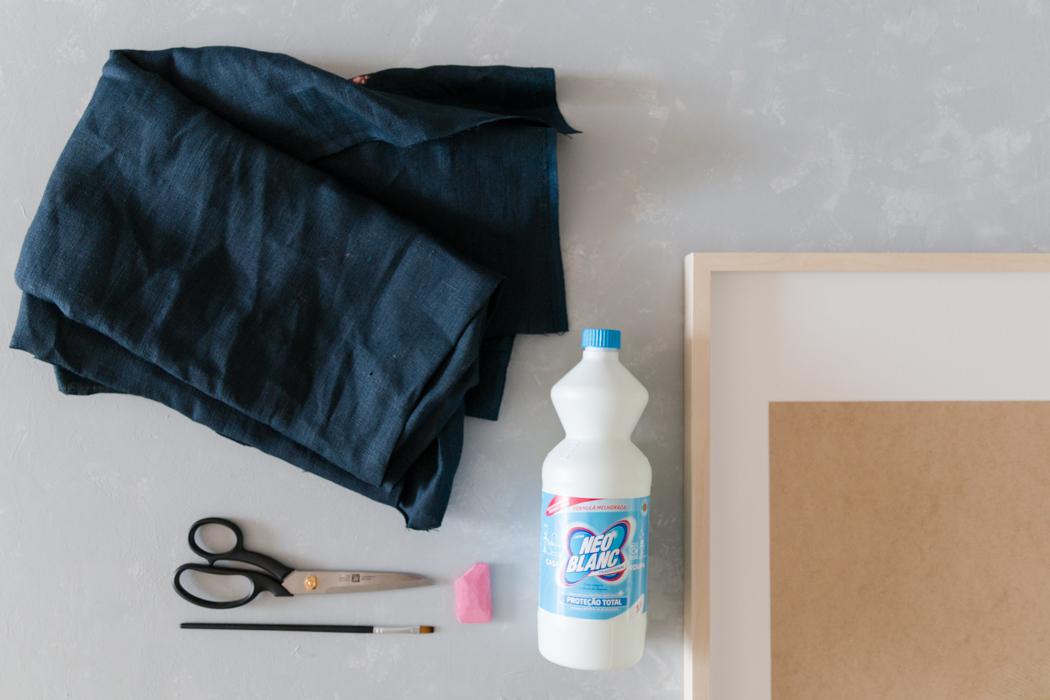 DIY Deko - Wandbilder mit Bleiche malen - DIY Blog lindaloves.de