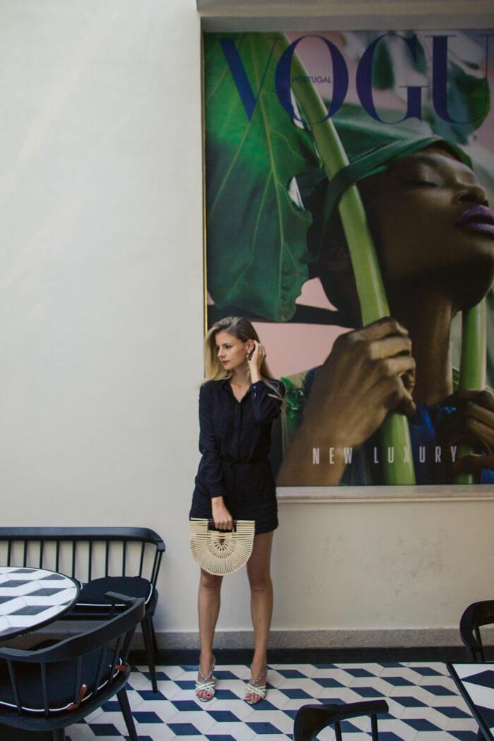 DIY Cult Gaia Handtasche aus Holzstäbchen - Trendtasche aus Sushistäbchen selber machen Mode DIY Anleitung