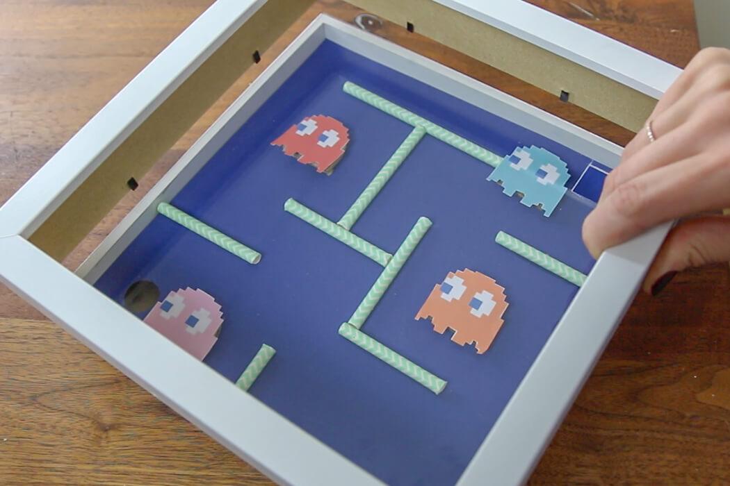 Diy Pacman Spiel Spiel Aus Bilderrahmen Selber Machen